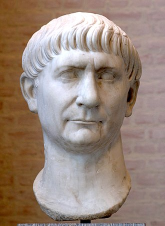 Spaniards - Marble bust of Roman Emperor Trajan, born in Roman Hispania (in Italica near modern-day Seville)