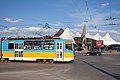 Tram in Sofia in front of Central Railway Station 2012 PD 008.jpg