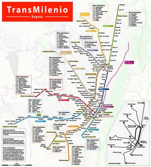 TransMilenio Bogota Map