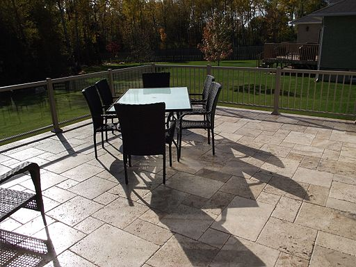 Travertine Paver Deck