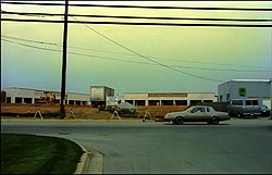 Travilah Square Shopping Center under construction in the early 1980s.