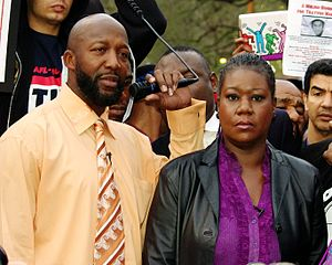 Trayvon Martin - Tracy Martin and Sybrina Fulton at an event in 2012