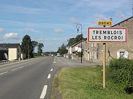 Tremblois-lès-Rocroi (Ardennes) city limit sign.JPG