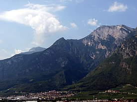Trento-Ravina with Belvedere village below the Bondone.jpg