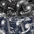Trio of Hurricanes Over the Pacific Ocean (21070015761).jpg