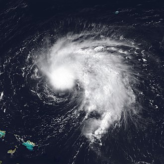 1995 Atlantic hurricane season - Image: Tropical Storm Chantal Jul 16 1995 1815Z