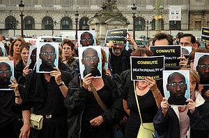 Troy Davis - Image: Troy Davis Paris demo
