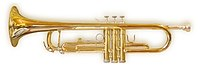 A trumpet, perhaps the most famous brass instr...