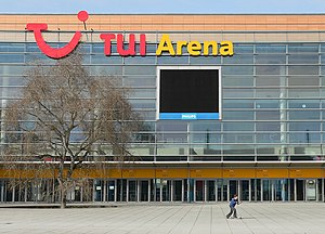 Die TUI Arena in Hannover