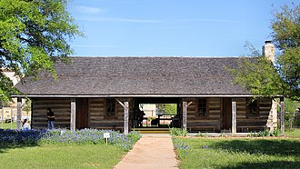 Boonville, Texas - The 1856 Turner Peters Log Cabin at the Boonville Heritage Park