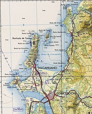 Talcahuano - Image: Txu oclc 224571178 sj 18 04 quiriquina
