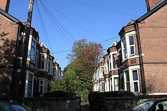 Lenton, Nottingham - Image: Typical Lenton Scene geograph.org.uk 592087