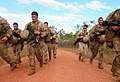 U.S. Marines with the 1st Platoon, Lima Company, 3rd Battalion, 3rd Marine Regiment, Marine Rotational Force-Darwin sprint to their first station wearing full gear during a squad competition at Kangaroo Flats 130523-M-AL626-0856.jpg