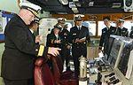 U.S. Navy Rear Adm. Lisa Franchetti, the commander of U.S. Naval Forces Korea, and Rear Adm. Mark Montgomery, the commander of Task Force 70, visit the destroyer ROKS Chungmugong Yi Sun-sin (DDH 975) after 131004-N-TB410-013.jpg