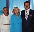 U.S. Secretary Clinton Poses for a Photo With Umit Boyner and Rifat Hisarcıklıoğlu.jpg