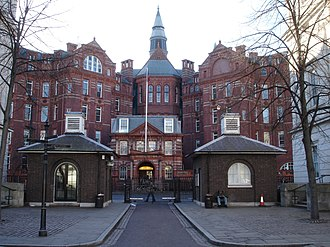 UCL Medical School - The Cruciform Building on Gower Street, which houses the preclinical facilities of the UCL Medical School; it was previously the main building of University College Hospital