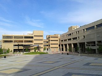 University of the District of Columbia - Dennard Plaza at the Van Ness campus.