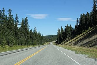 Kootenai National Forest - U.S. 93 through forest