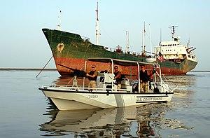 Port Security Unit - A USCG PSU boat patrolling in Umm Qasr, Iraq