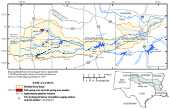Geology and hydrology of the Wichita Falls, Texas area ...