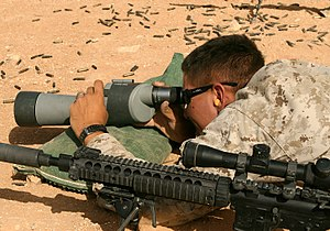 Mk 12 Special Purpose Rifle - Image: USMC 081005 M 4507D 005