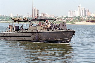 Riverine Assault Craft - Image: USMC Riverine Assault Craft (RAC) in Paraguay