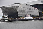 USNS Trenton (JHSV-5) is rolled out at Austal USA in September 2014.JPG