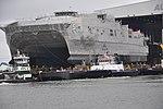 USNS Trenton (JHSV-5) estas ekigita en Austal Usonon en septembro 2014.JPG