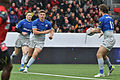 USO - Saracens - 20151213 - Chris Ashton, Owen Farrell and Marcelo Bosch.jpg