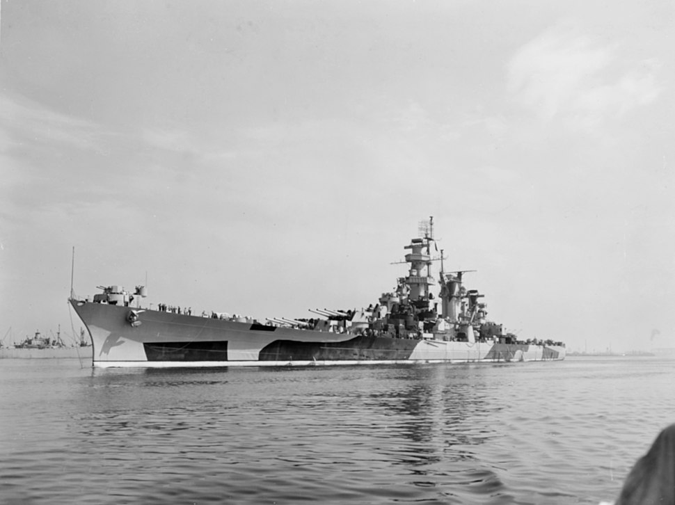USS Alaska (CB-1) off the Philadelphia Navy Yard on 30 July 1944