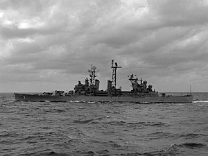 USS Galveston (CL-93) - Image: USS Galveston (CLG 3) underway 1959