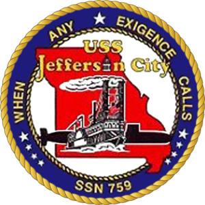 USS Jefferson City (SSN-759) - Image: USS Jefferson City SSN 759 Crest