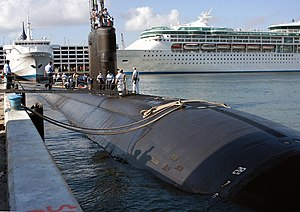 The USS Miami in Port Everglades, Florida in April 2004.