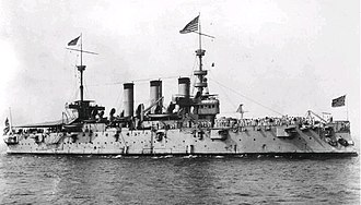 March across Samar - USS New York (ACR-2) as she appeared around the time of the Spanish–American War