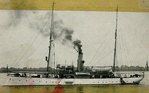 USS Quiros (PG-40) - Quiros in Wuhu, China, c. 1905-1913.