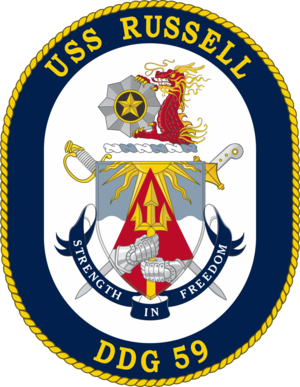 USS Russell (DDG-59) - Image: USS Russell DDG 59 Crest