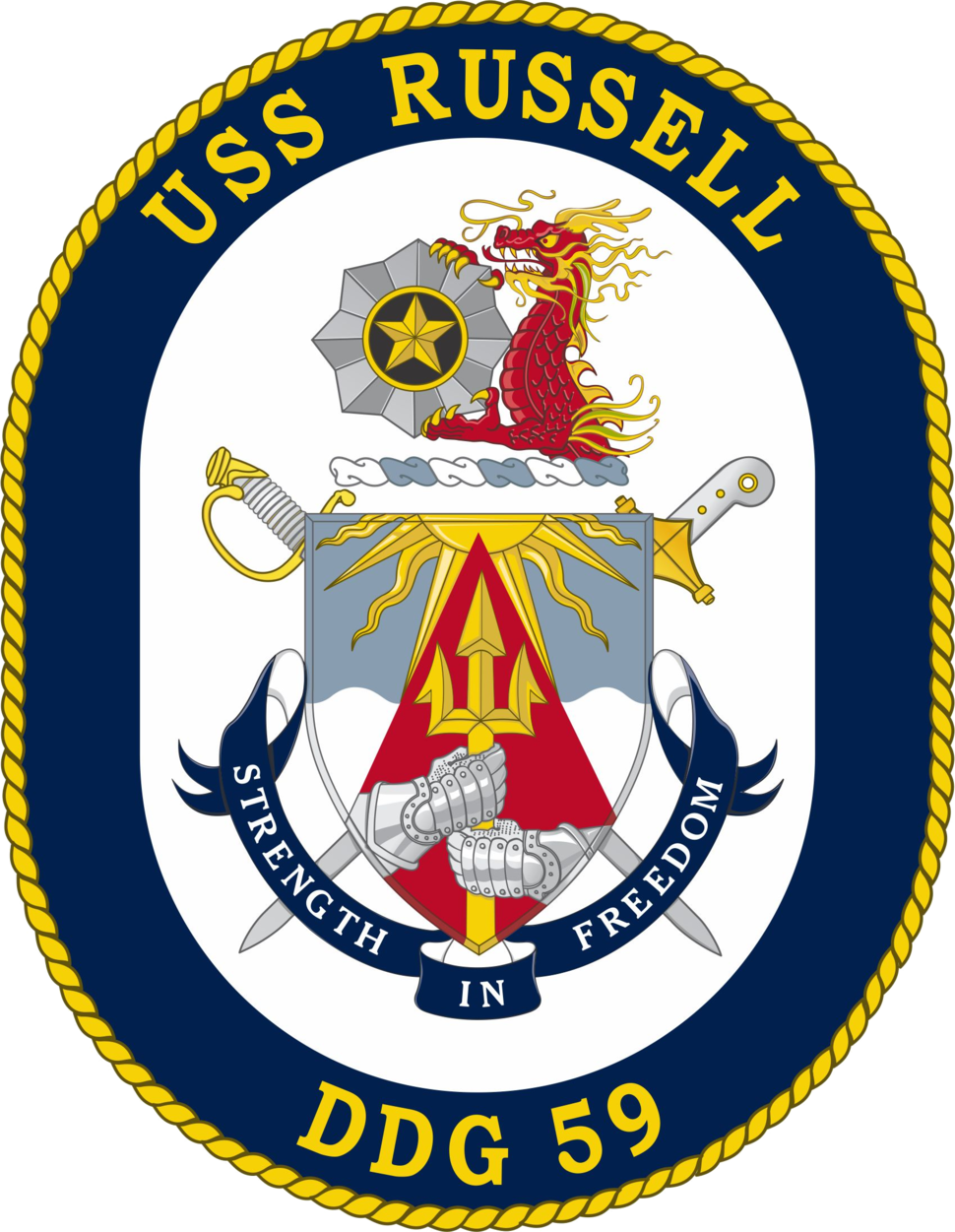 USS Russell DDG-59 Crest
