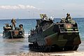 US Navy 040223-M-4806Y-040 Amphibious Assault Vehicles (AAV) arrive on the Philippine shore from the amphibious transport dock ship USS Fort McHenry (LSD 43).jpg