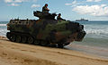 US Navy 050628-N-9866B-012 U.S. Marines assigned to 3rd Amphibious Assault Battalion, drive their Amphibious Assault Vehicles (AAVs) down the beach.jpg