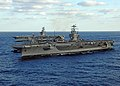 US Navy 051103-N-0119G-211 The Nimitz-class aircraft carrier USS Harry S. Truman (CVN 75) sails alongside the Military Sealift Command (MSC) fast combat support ship USNS Arctic (T-AOE 8) during ammunition offload.jpg