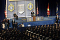 US Navy 051130-N-5390M-001 President George W. Bush addresses the Brigade of Midshipmen at the U.S. Naval Academy in Annapolis, Md.jpg