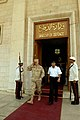 US Navy 080814-N-8273J-139 Chief of Naval Operations (CNO) Adm. Gary Roughead departs the Ministry of Defense building after conducting an office call with Head of the Iraqi Navy, Commodore Muhammad Jawad.jpg