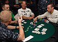 US Navy 090620-N-2798F-033 Sailors assigned to the aircraft carrier USS Harry S. Truman (CVN 75) and Carrier Air Wing (CVW) 3 compete in a Texas Hold 'Em Poker tournament aboard Harry S. Truman.jpg