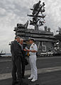 US Navy 100613-N-3705H-036 Capt. Joseph Clarkson, commanding officer of the Nimitz-class aircraft carrier USS Harry S. Truman (CVN 75),.jpg