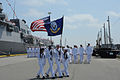 US Navy 110704-N-GA722-186 The crew of USS Nitze (DDG 94) march from the ship to take part in the Independence Day Parade.jpg