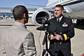 US Navy 111021-N-GO535-291 Deputy Chief of Navy Reserve, Rear Adm. Bryan Cutchen is interviewed at Boeing's integrated defense systems facility aft.jpg