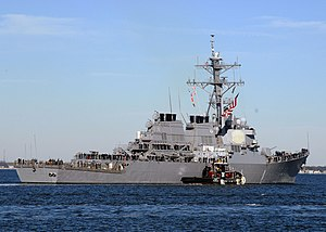 US Navy 120130-N-YF783-074 USS Arleigh Burke departs Naval Station Norfolk.jpg