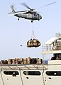 US Navy 120214-N-WD757-163 Helicopters deliver supplies to the Nimitz-class aircraft carrier USS Carl Vinson (CVN 70) during a replenishment at sea.jpg