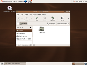 Ubuntu version history - Ubuntu 5.10 (Breezy Badger)