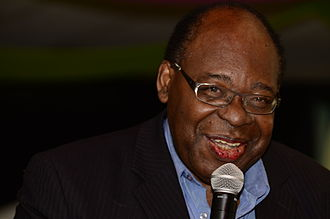 Amos, Quebec - Former mayor Ulrick Chérubin during an event associated with Amos' centennial celebration.
